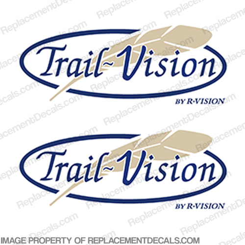 Trail Vision by R-Vision RV Decals (Set of 2)