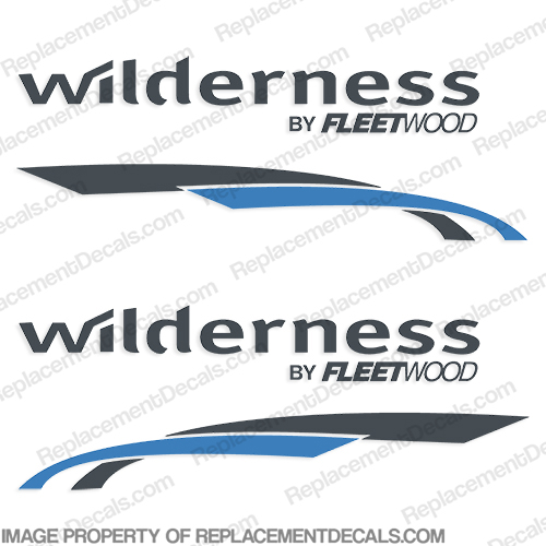 Wilderness by Fleetwood RV Decals (Set of 2) - 2 Color