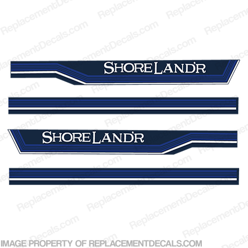 Shorelandr 1989 PWC Boat Trailer Decals - Set of 2