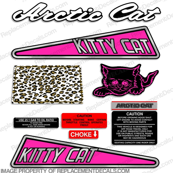 "Arctic Cat ""Kitty Cat"" Decals 1972 - 1975"
