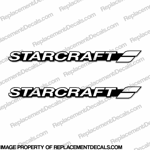 Starcraft Boat Logo Decals (Set of 2) - Style 4 - Any Color!