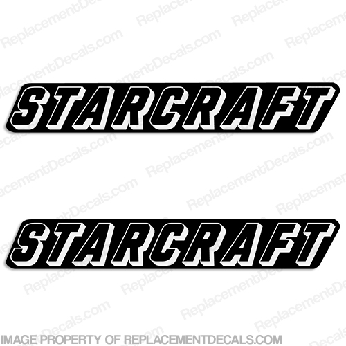 starcraft boat logo decals  set of 2  - style 5