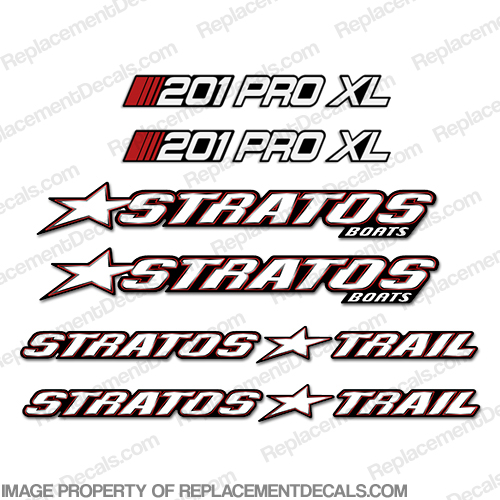 Stratos Boats 201 Pro XL Decal Package