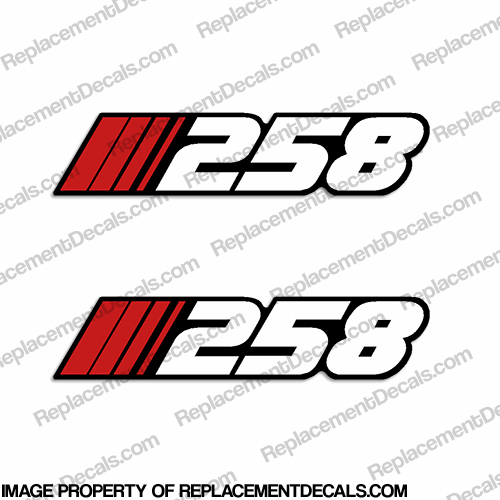 "Stratos ""258"" Decal (Set of 2)"