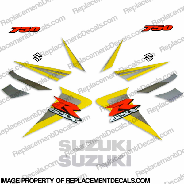 Suzuki GSX-R 750 Full Decals (Yellow) - 2006