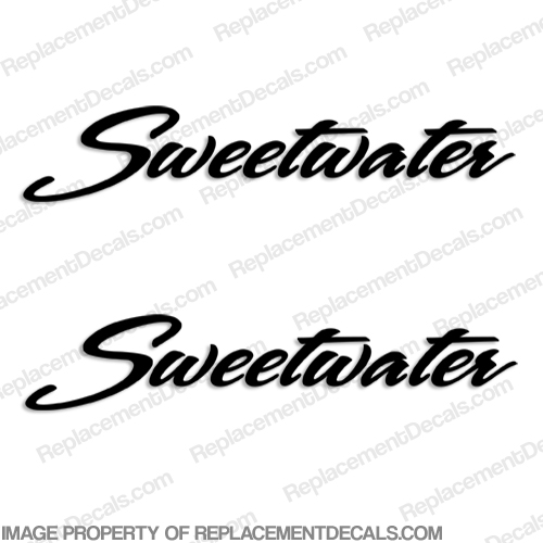 Sweetwater Pontoon Boat Logo Decals - Any Color! sweetwater, sweet, water, sweet-water, by godfrey
