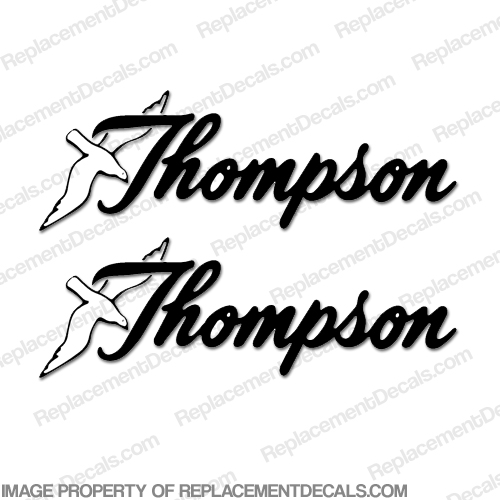 Thompson Boat Logo Decals (Set of 2) - Any Color!