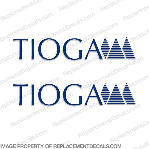 Tioga RV Decals (Set of 2) - Any Color!