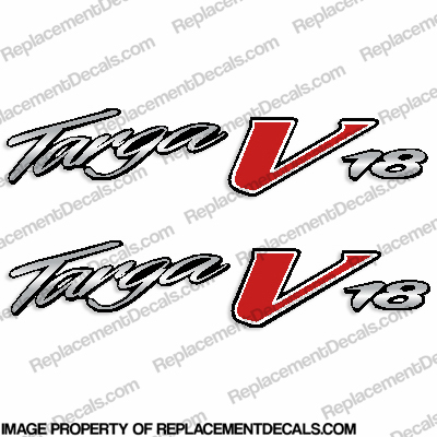 Tracker Targa V18 Boat Logo Decal (Set of 2)