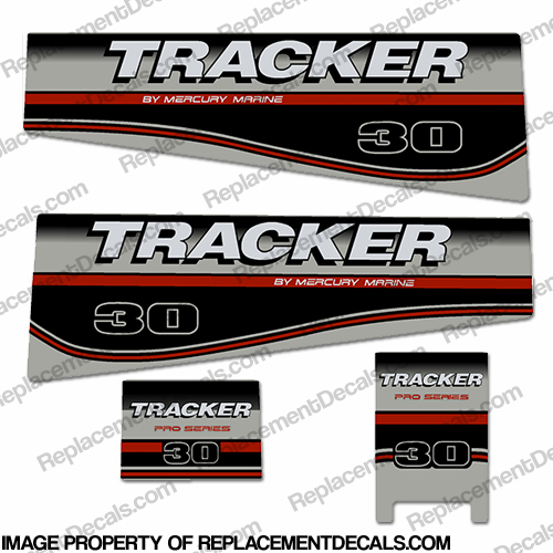 Tracker 30hp Engine Decal kit