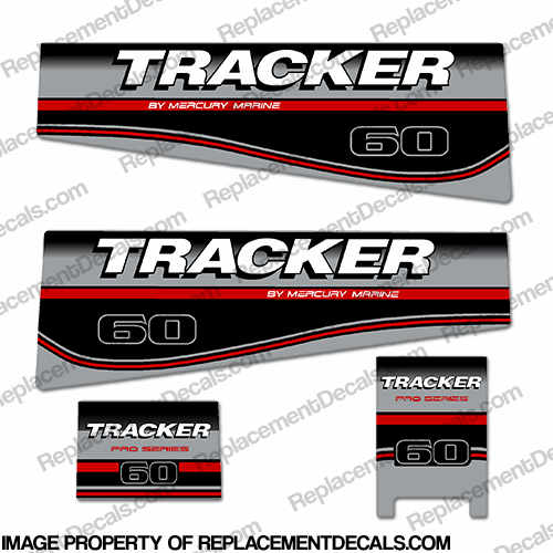 Tracker 60hp Engine Decal kit