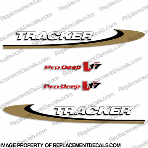 Bass Tracker Pro Deep V17 Decal Kit