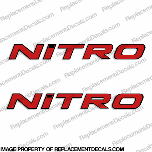 Tracker Marine Nitro Boat Decals  - Red w/Black Outline