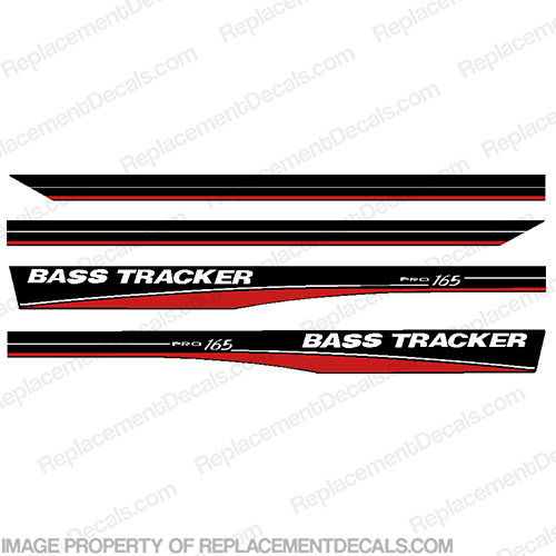 Bass Tracker 16.5 Pro 165 Boat Decals - Red