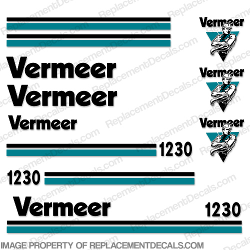 Vermeer BC1230 Brush Chipper Decals