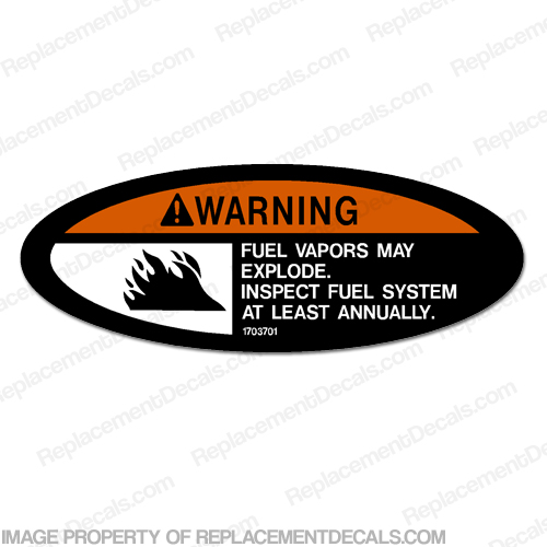 Warning Decal - Fuel Vapors May Explode...