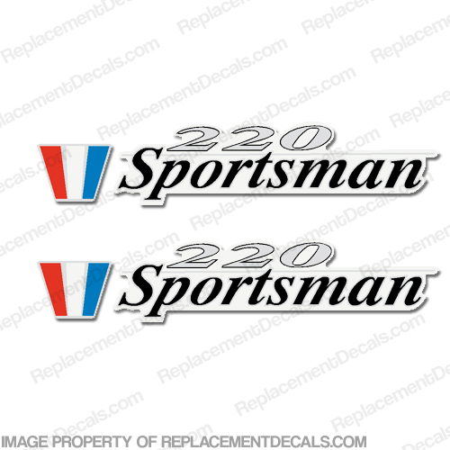 Wellcraft 220 Sportsman Boat Decals (Set of 2)