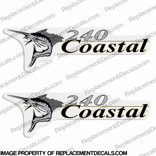 Wellcraft Coastal 240 Logo Boat Decals (Set of 2)