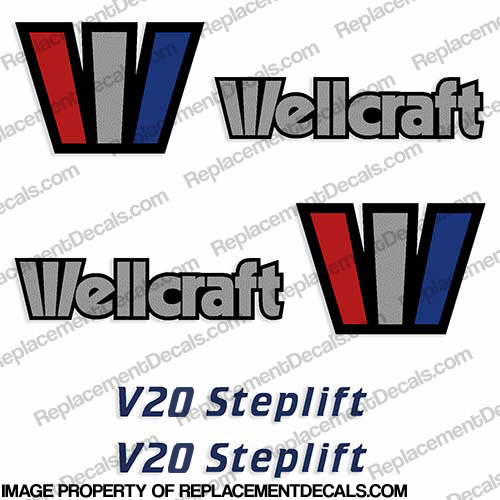 Wellcraft V20 Steplift Decals (Set of 2) - 1993