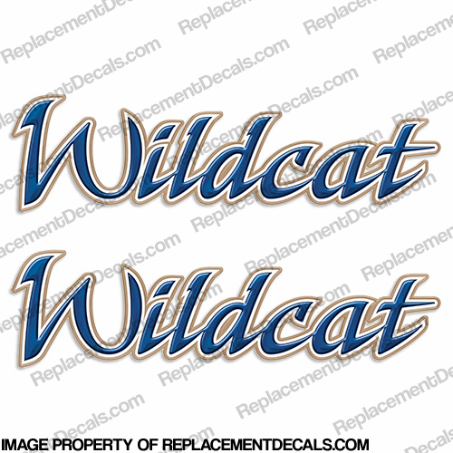 Wildcat by Forest River RV Decals 2008 Style (Set of 2)