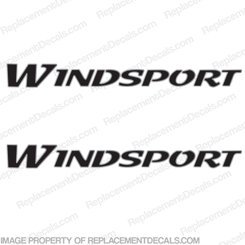 Windsport RV Decal Kit (Set of 2) Custom 2-Color - Pick Colors!