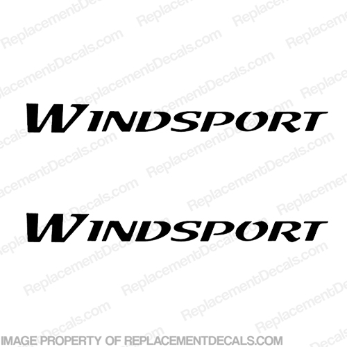 Windsport RV Logo Decals - (Set of 2) Any Color! wind sport, wind-sport