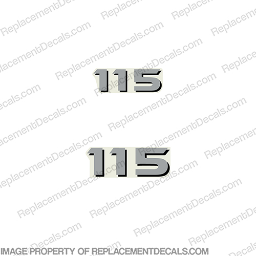 Yamaha Outboard 115 2-Stroke Number Decals Yamaha, 115, 115hp, rear, front,  horsepower, decal, sticker, number, 2s, 2stroke, 2 stroke, two, stroke, twostroke,
