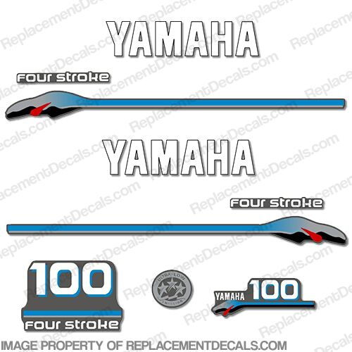 Yamaha 100hp 4-stroke 2000 Model Decals