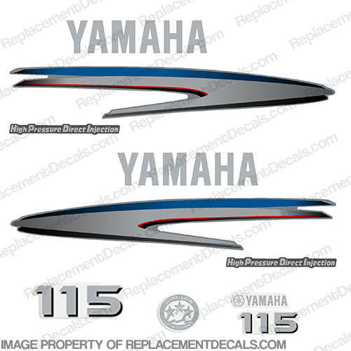 Yamaha 115hp HPDI Decals