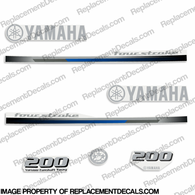 Yamaha 200hp FourStroke Decals - 2013+