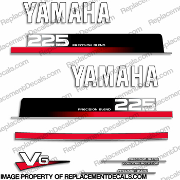 Yamaha 225hp Decals Kit - Early 1990s