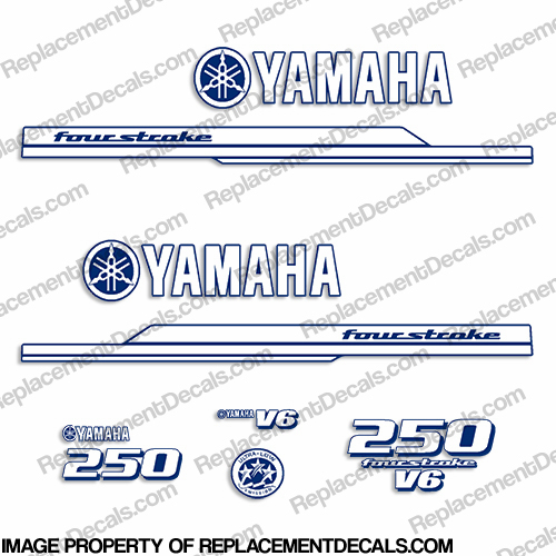 Yamaha 2010 Style 250hp Decals - Any Color