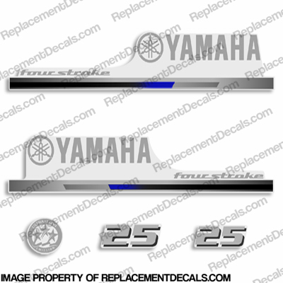 Yamaha 2010+ Style 25hp Decals