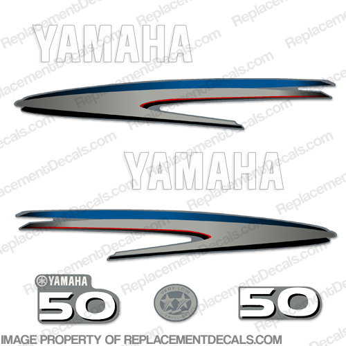 Yamaha 50hp 2-Stroke Decal Kit (New Style)