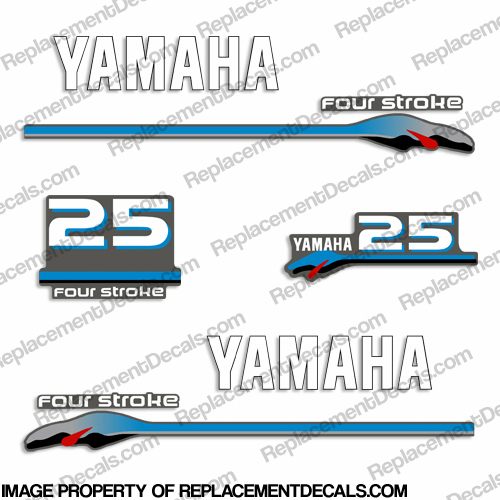 Yamaha 25hp Fourstroke Decals - 2000 Style