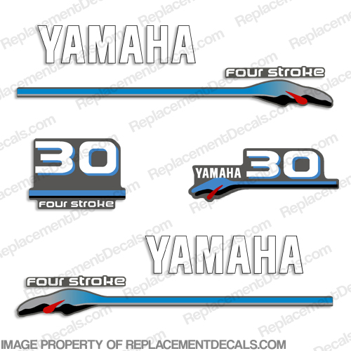 Yamaha 30hp Fourstroke Decals - 2000 Style