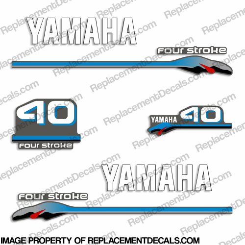 Yamaha 40hp Fourstroke Decals - 2000 Style
