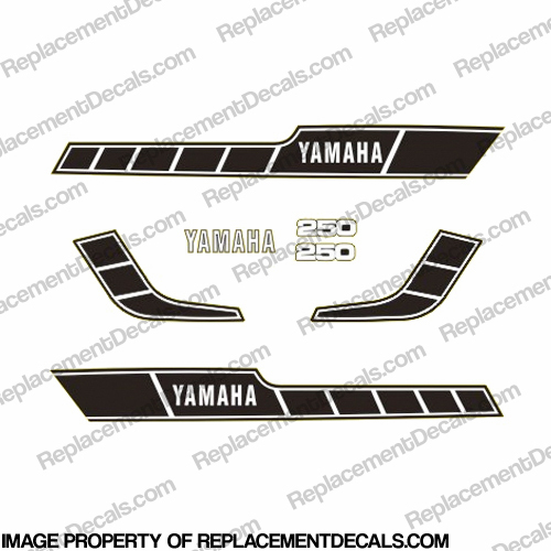 Yamaha RD250 Decal Kit - Black