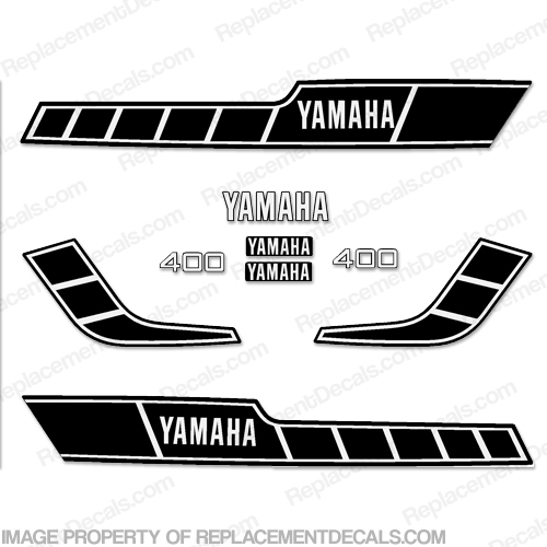 Yamaha 1978 RD400 Decal Kit - Black