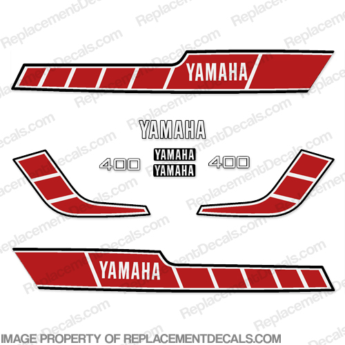 Yamaha 1978 RD400 Decal Kit - Red