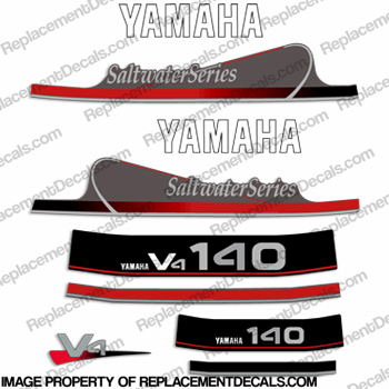 Yamaha 140hp V4 Saltwater Series Decals