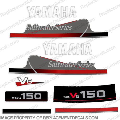 Yamaha 150hp V6 Saltwater Series Decals
