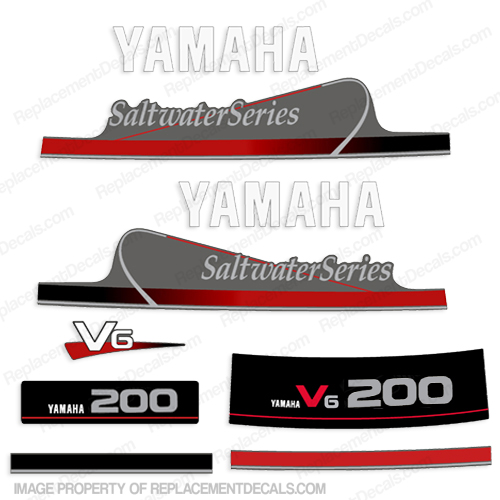 Yamaha 200hp V6 Saltwater Series Decals